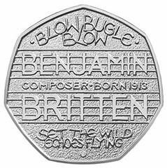 Benjamin Britten 50 pence coin
