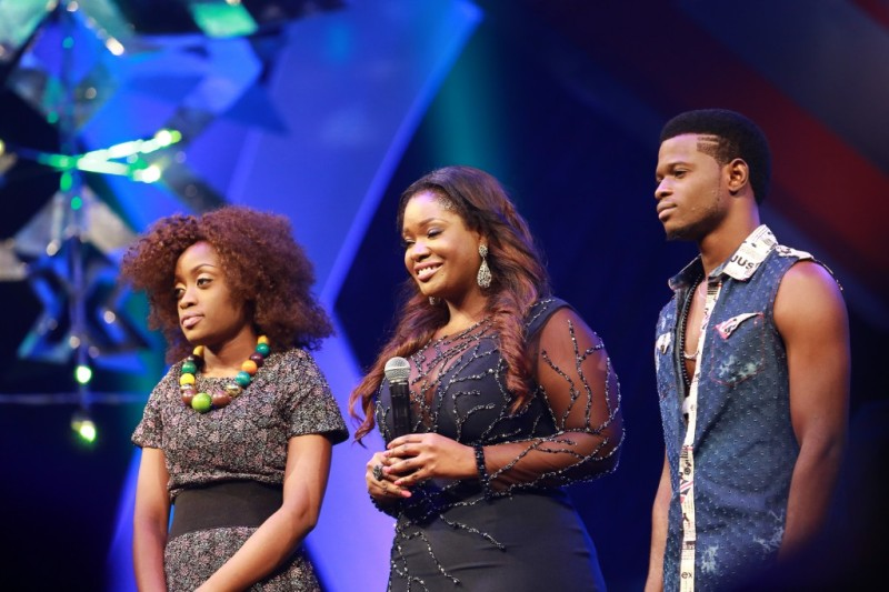 L-R, Vicky, Toolz, and Pheel at the eviction show