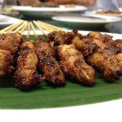 fried food, meat, food, dish, yakitori, cuisine, skewer, satay, grilled food,