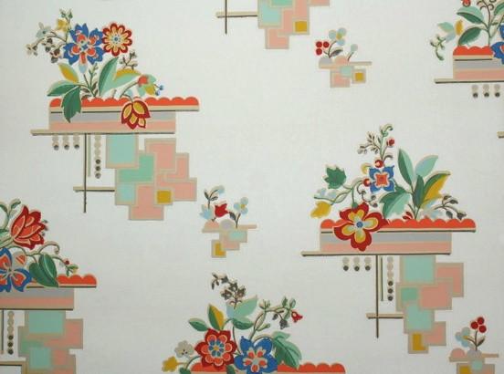 art deco floral vintage wallpaper flickr photo sharing