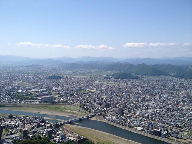 金華山 岐阜城天守閣からの眺望