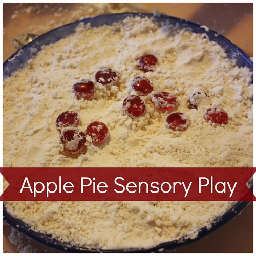 Apple Pie Sensory Play (Photo from Little Bins for Little Hands)