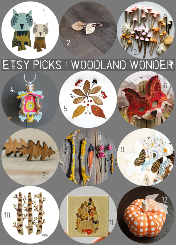 Etsy picks : Woodland Wonder / curated by Emma Lamb