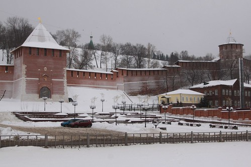 Walls of the Kremlin in Nizhny Novgorod