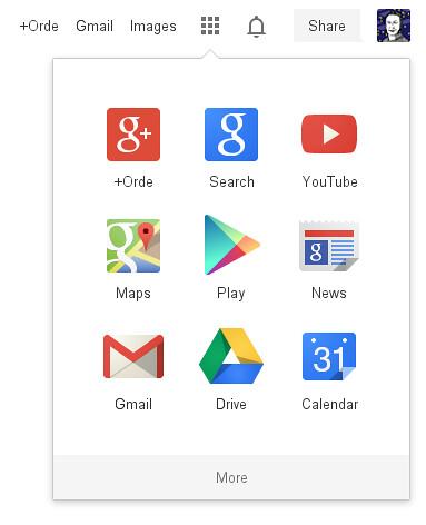 New Google web UI
