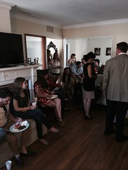 Moishe House residents and friends come out to see Dr. M
