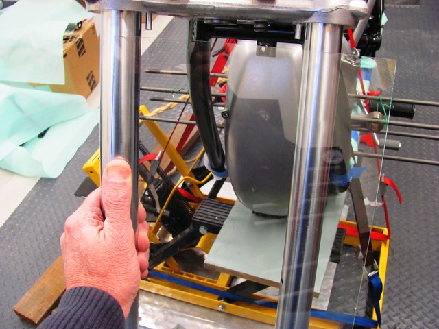 Positioning Glass on Fork Tubes