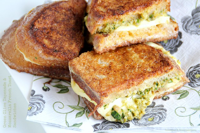 Green Olive Tapenade & Mozzarella French Toast Sandwiches 3