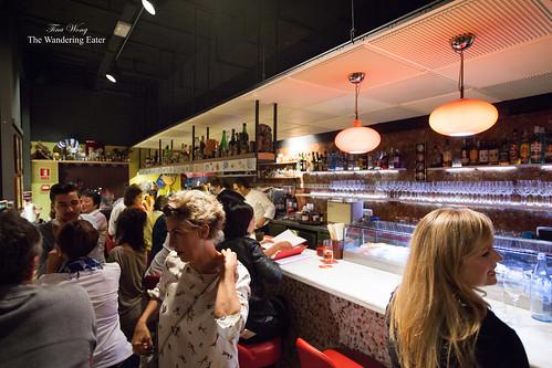 Busy bar area at Dos Palillos