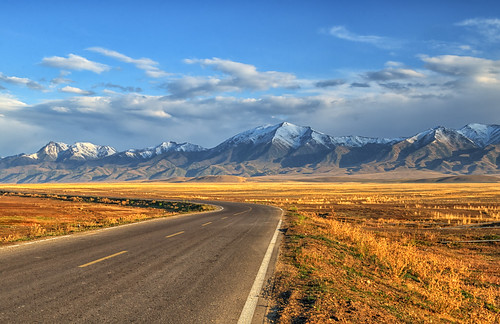 china road autumn fall landscape nikon asia border xinjiang 新疆 kazakhstan snowmountain altay altaimountains uyghurautonomousregion