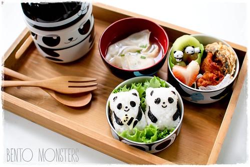 BentoMonsters Baby Panda Onigiri Bento