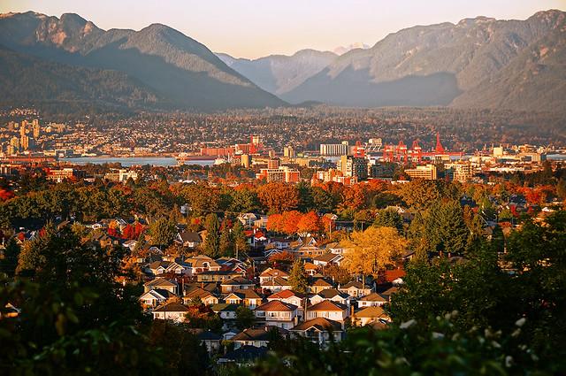 Vancouver City Skyline at Sunset