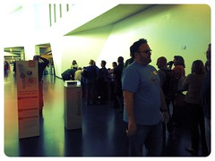 Welcome! The very start of the check-in at #edcampKC at the Nelson Atkins Museum!
