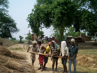 A community works together for safe, clean water (Credit: Saurabh Singh Inner Voice Foundation)