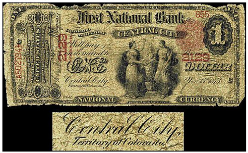 Central City Colorado National Bank Note