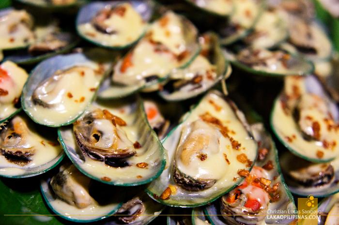 Baked Tahong at Aling Tonya's Seafood Dampa in Macapagal