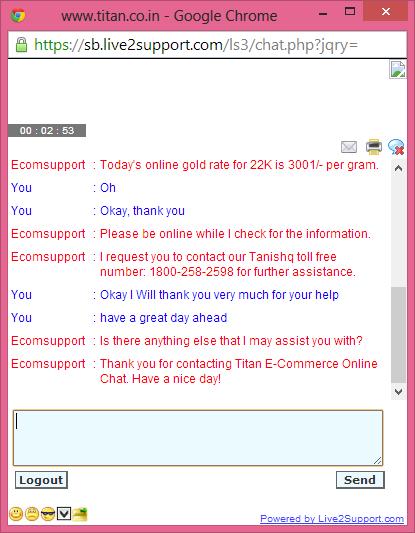 Tanishq Chat Tool