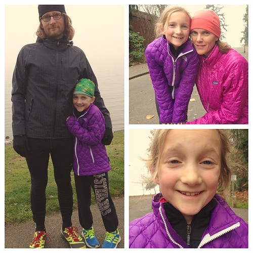 Family Turkey Trot at Seward Park. Maple ran the whole 5k!!
