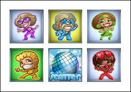 free Disco Spins slot game symbols