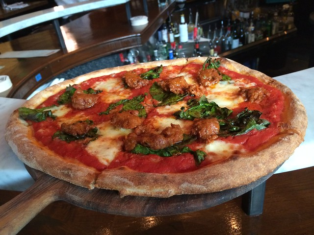 Calabrian sausage pizza - Stoneburner