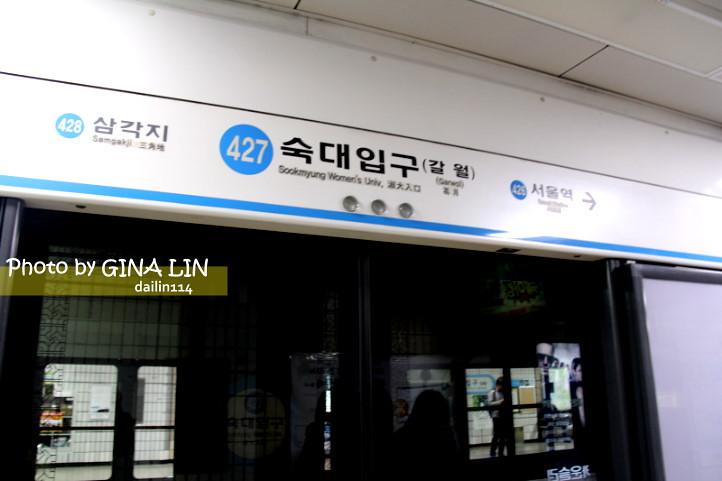 【首爾烤肉烤豬皮】韓劇秘密花園拍攝地쌍대포|淑大入口站之遇到一顆老鼠屎,差點被騙錢經驗!! @GINA LIN
