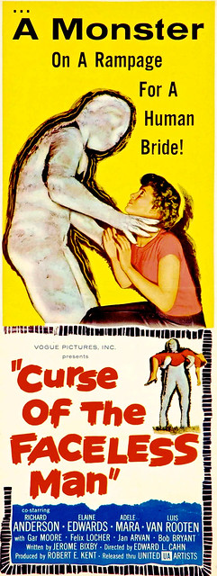 Curse Of The Faceless Man United Artists 1958Insert 14 X 36