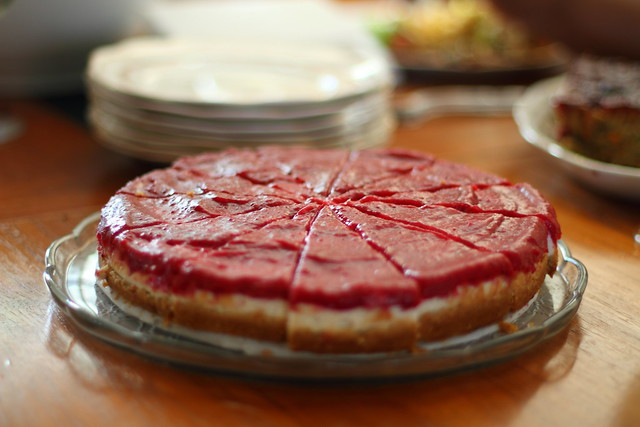 Vegan Cranberry Cheesecake 2