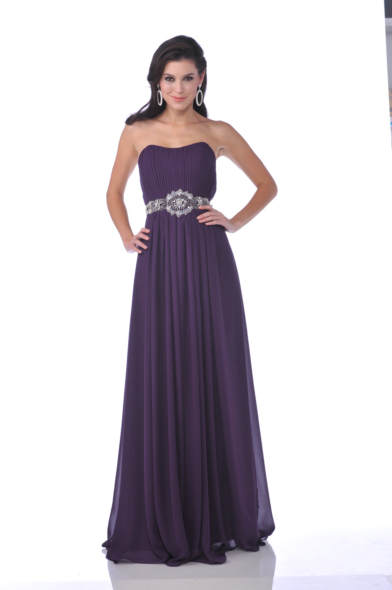 New elegant crystal prom bridesmaid homecoming reception for Dresses for wedding reception guests