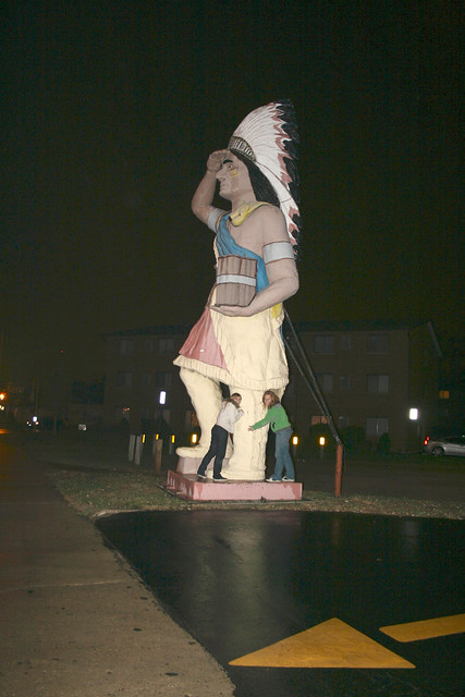 30-ft Tall Cigar Store Indian in Oak Lawn, Illinois