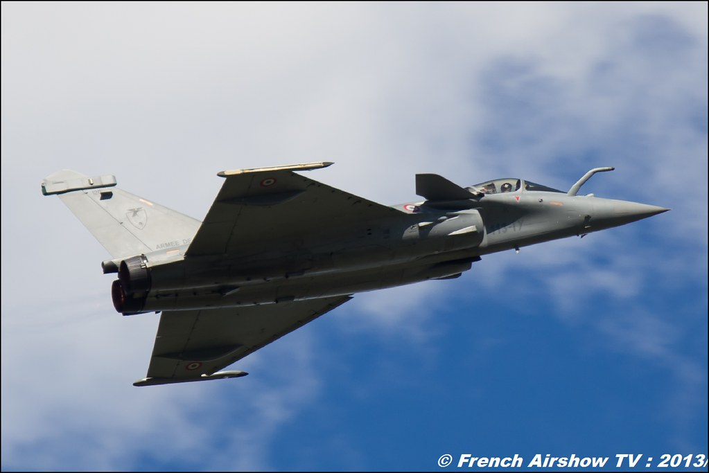 Rafale Solo Display , 60 ans Patrouille de France , Meeting Aerien 2013