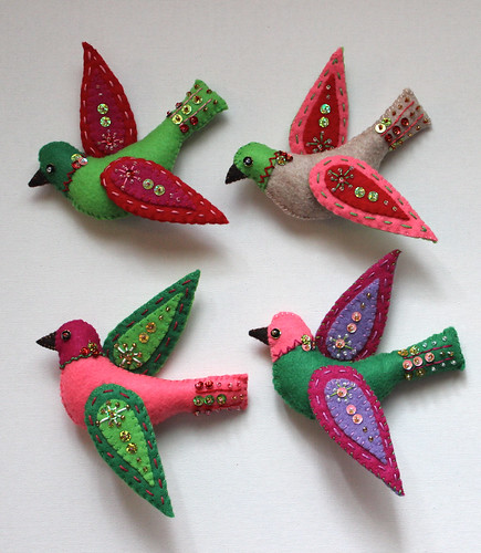 four finished birds!