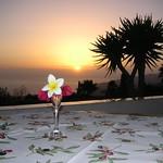 Sonnenuntergang, Terrasse Casa Alina
