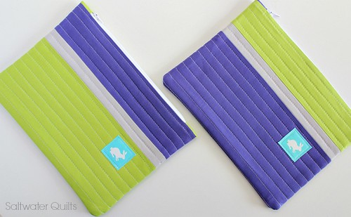 Purple lime zipper bag