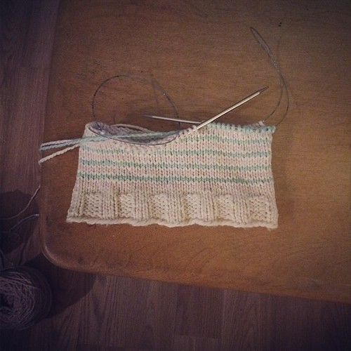 Cowl in progress. #knitting I can't wait to wear it. #knittingformyself
