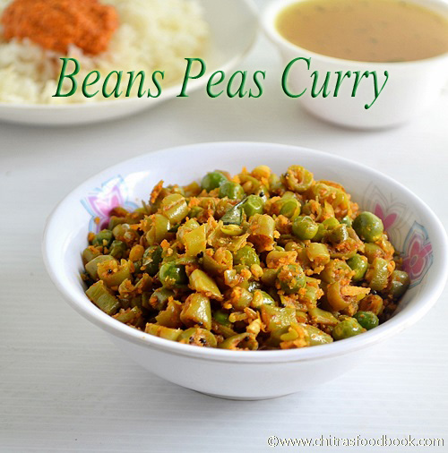 Beans peas poriyal