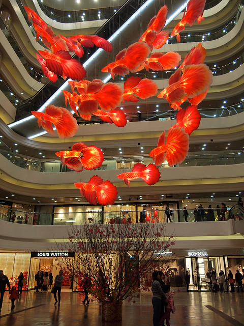 Chinese New Year Decorations at Times Square Hong Kong