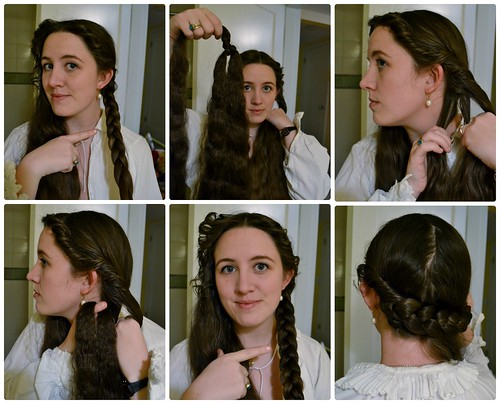 Adding fake hair, 16th Century Italian Braids and Curls on MorganDonner.com