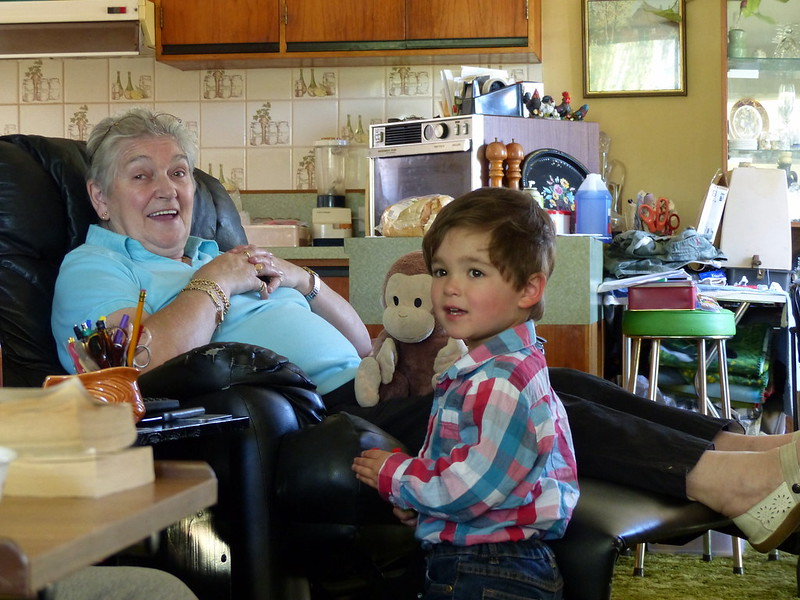 Nanny Patsy with Monkey George and Eskil