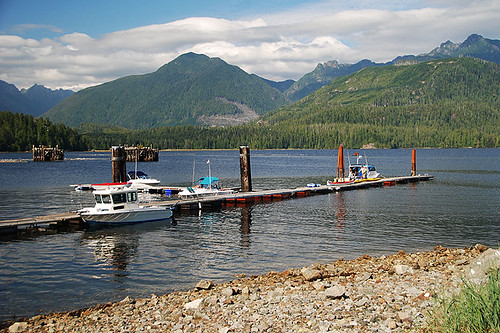 Toquart Bay Campground and Marina in Barkley Sound, West Coast Vancouver Island, British Columbia