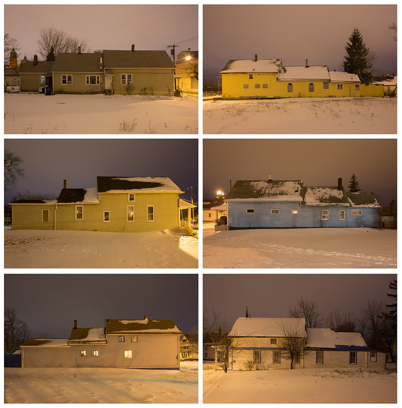 Buffalo, New York Telescope Houses at Night
