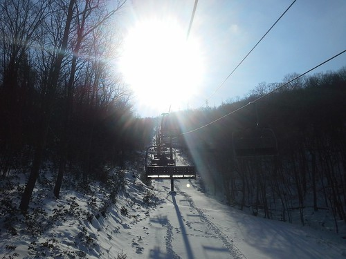 Lift Six, express quad to the sun