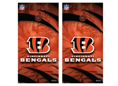 Cincinnati Bengals Cornhole Game Decal Set