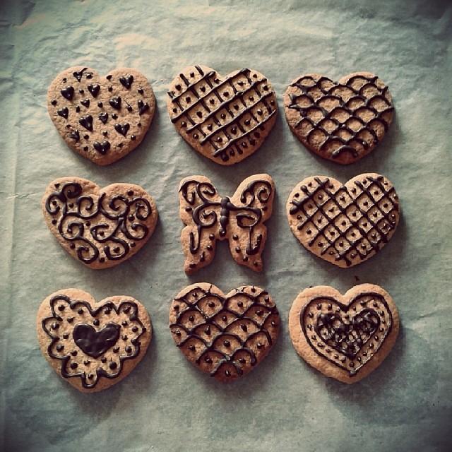 Altri biscottini! Ne sono troppo orgogliosa! #biscottini #arteperte  #cioccolato