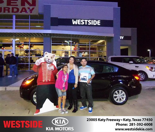 Happy Anniversary to Laura Martinez on your 2013 #Kia #Rio from Guzman Gilbert and everyone at Westside Kia! #Anniversary by Westside KIA