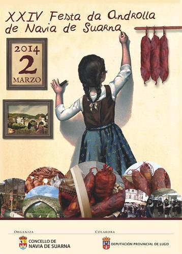 Navia de Suarna 2014 - Festa da Androlla - cartel