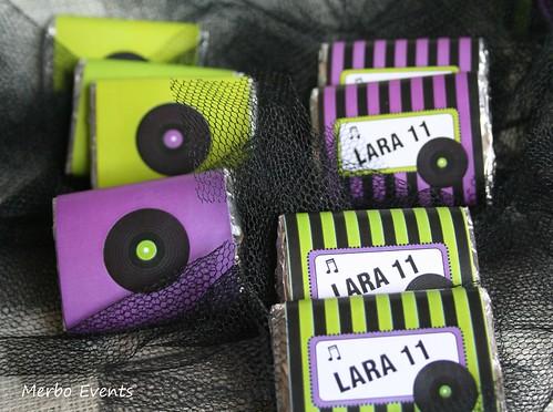 Chocolatinas para  Music party Merbo Events