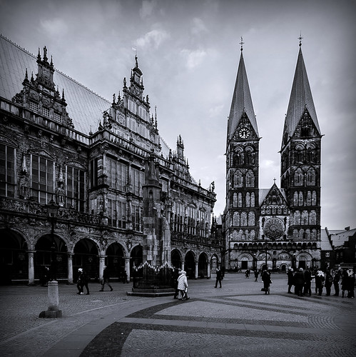 Bremen, St. Peters Cathedral and Town Hall