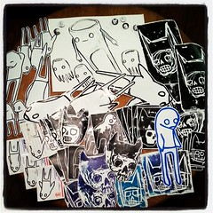 @starheadboy #stickershock  #exhibition #submission Mmmmm smells like ink. cool prints, thanks for the contribution!