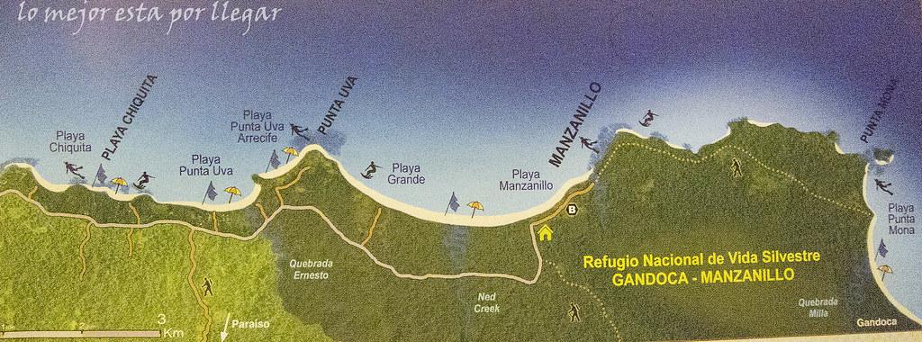 mapa  Reserva Gandoca-Manzanillo