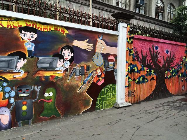 Ayala Blvd murals